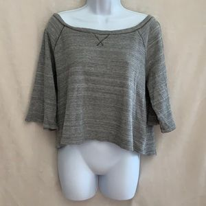 We the free cropped relaxed thermal top. Size Sm.